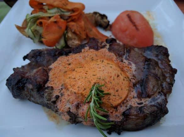 Steak from Asao Restaurant in Tecate