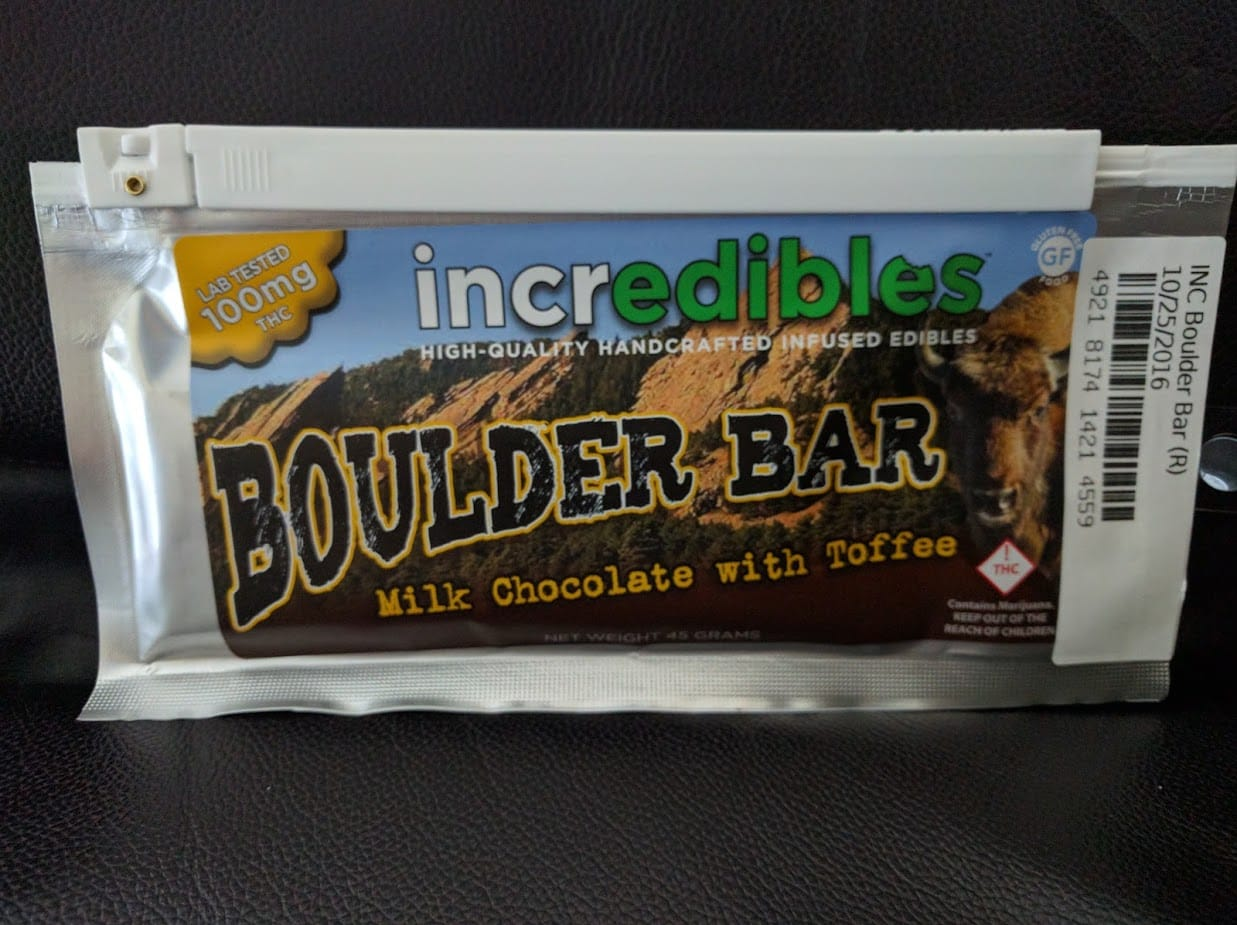 Incredibles Boulder Bar with 100mg THC