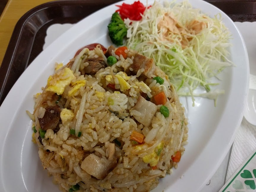 Fried rice from Little Tokyo Market Place in Los Angeles