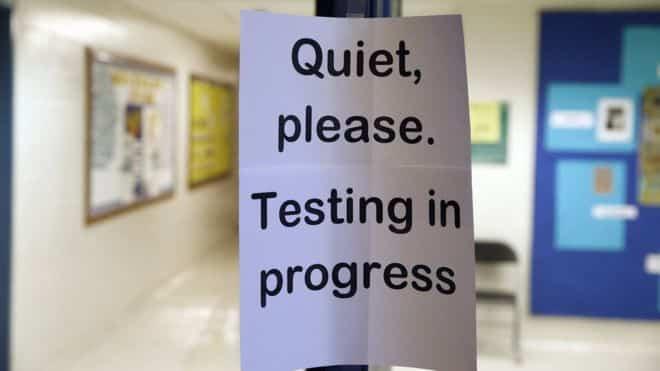 """""""Quiet Please, Testing In Progress"""" sign"""