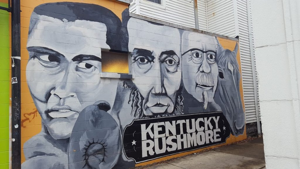Kentucky Rushmore mural in Louisville, Kentucky