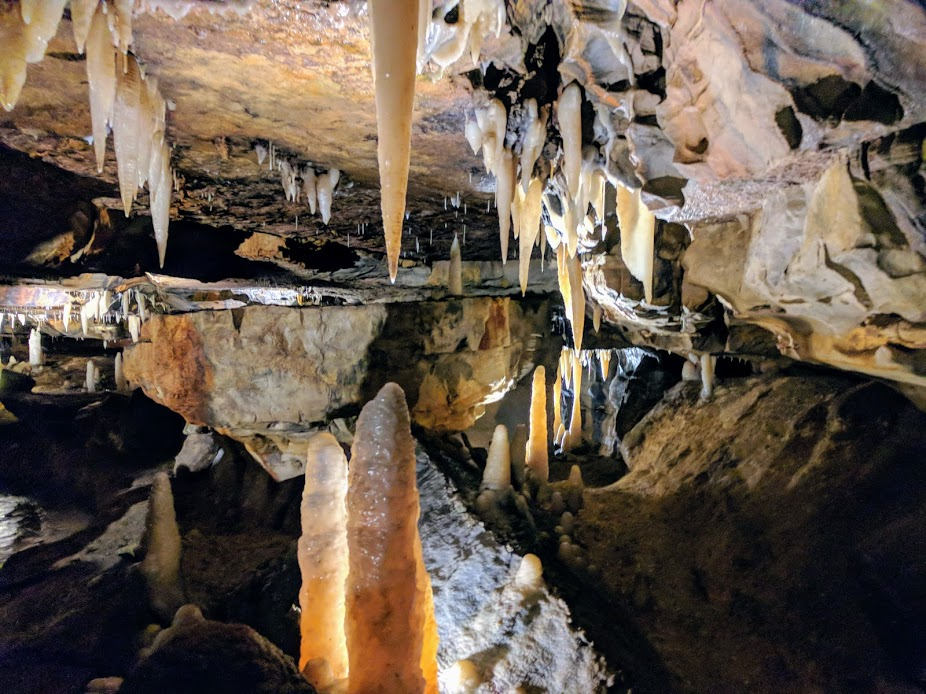 stalactite and stalagmite formations ohio caverns