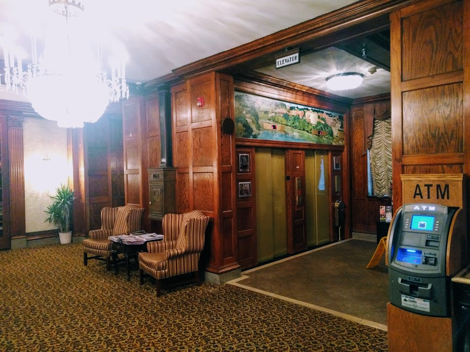 lobby of Clarion Hotel in Morgantown, West Virginia