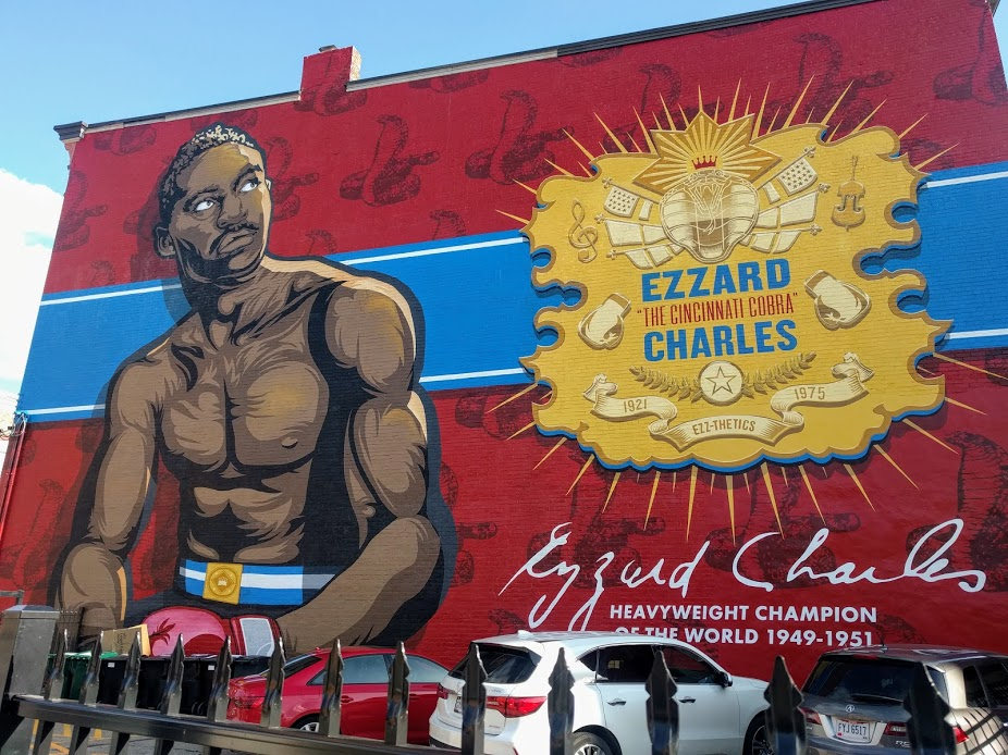 Mural in Cincinnati of former Heavyweight Boxing Champion Ezzard Charles