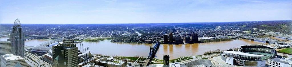 Panoramic image of Cincinnati from Carew Twoer Observation Deck