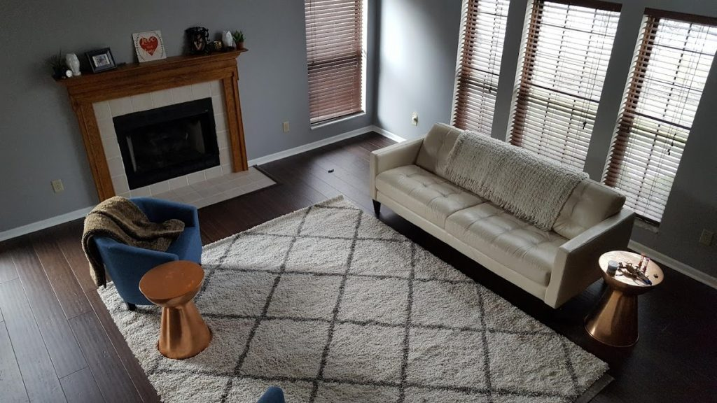 Great room updated with new bamboo floors and furniture