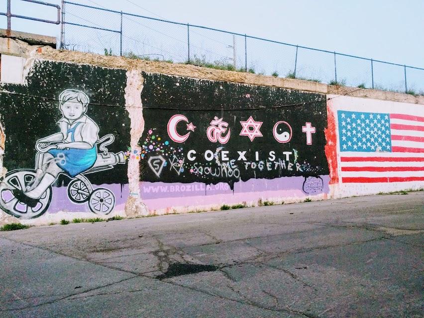 """""""Coexist"""" mural in Hamtramck Detroit, Michigan"""