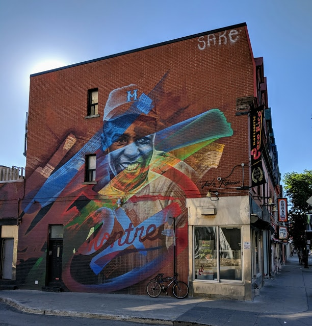 Jackie Robinson mural Montreal, Quebec