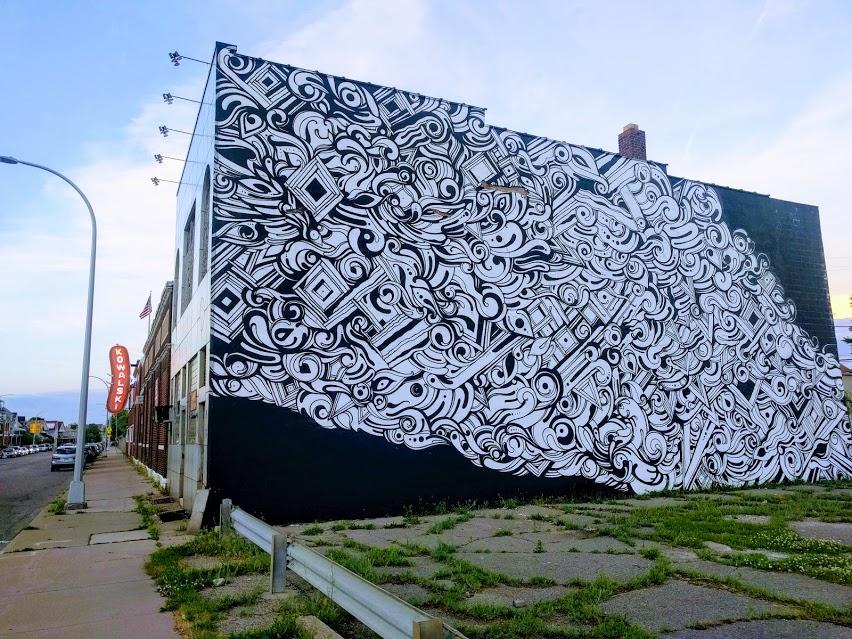 Street art in Hamtramck Detroit near sausage factory