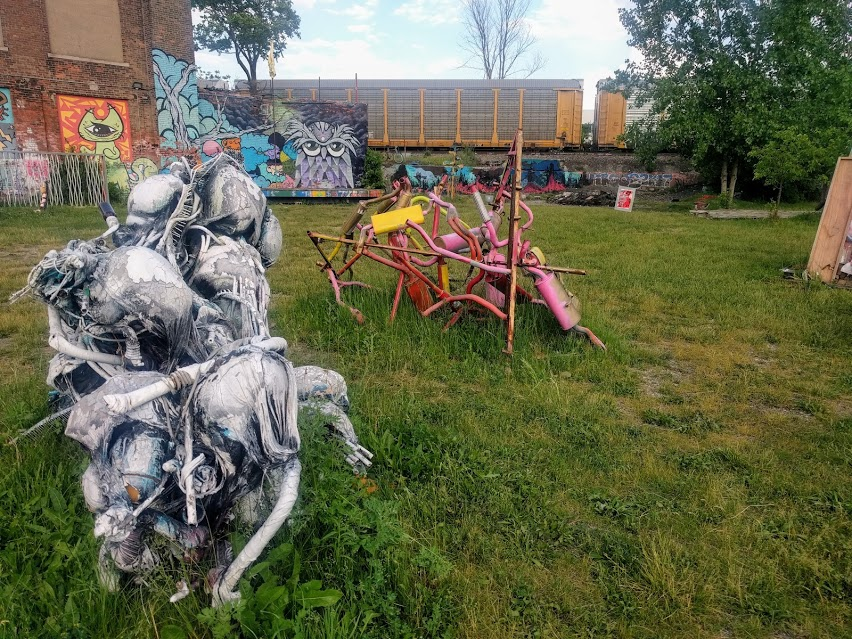 Sculptures at The Heidelberg Project in Detroit, Michigan