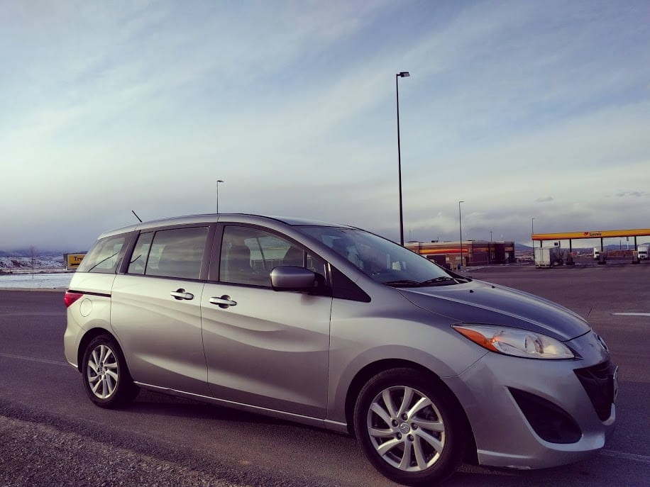 2012 Mazda 5 on scenic highway