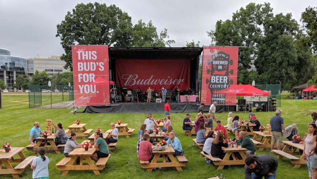 view of Budweiser Backyard Columbus Ohio