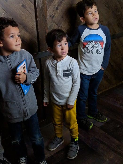 Excavating elevator to the terra-cotta warrior exhibit at the Children's Museum of Indianapolis