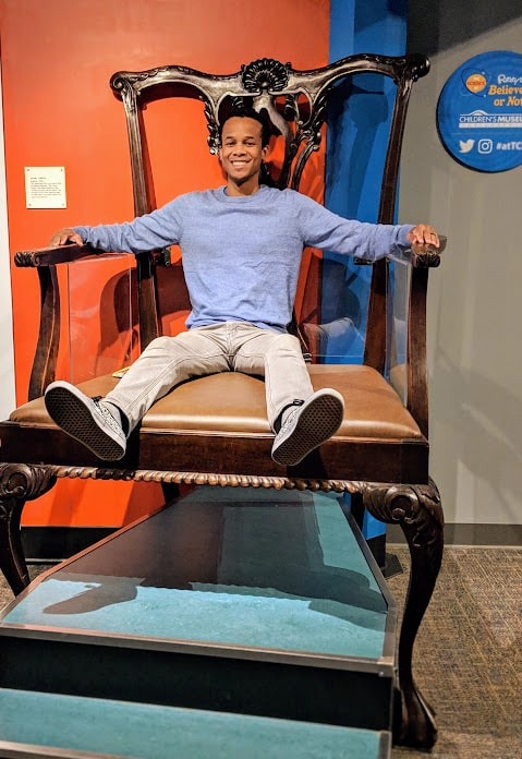 Giant chair in Ripley's Believe It Not exhibit at the Children's Museum of Indianapolis