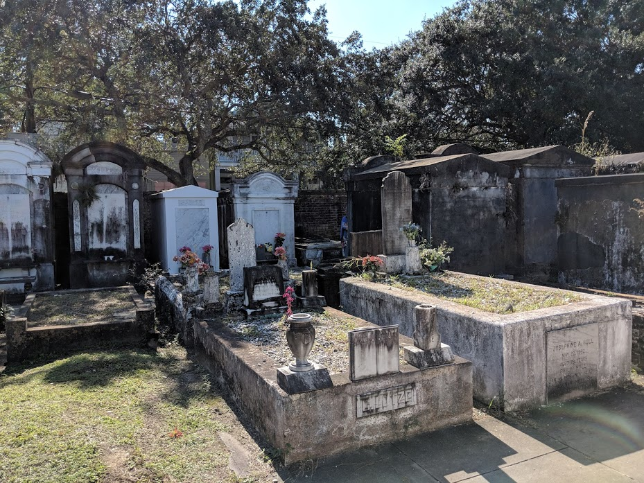 multiple tombs at Lafayette Cemetery #1 in New Orleans