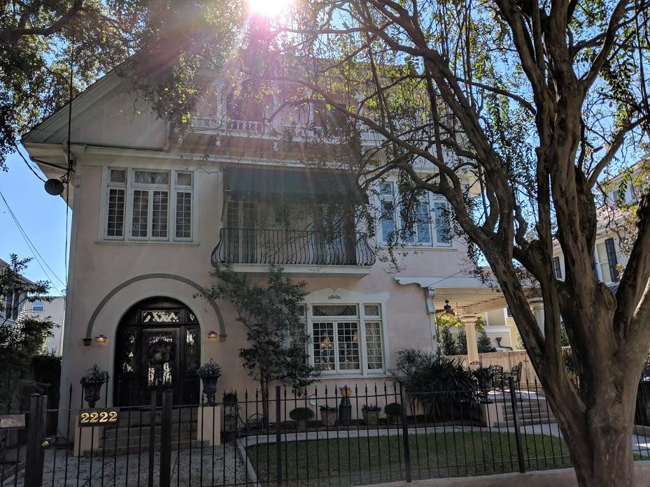 pink mansion in New Orleans' Garden District