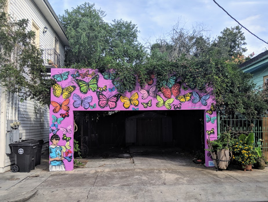 Garage full of art in New Orleans Bywater and Marigny neighborhood