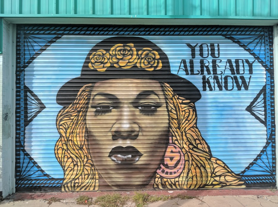 """You already know"" street art mural in New Orleans Bywater and Marigny neighborhood"