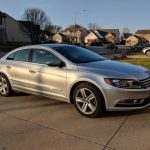 Silver Volkswagen CC 2013, purchased from Hertz Car Sales in Cincinnati, Ohio