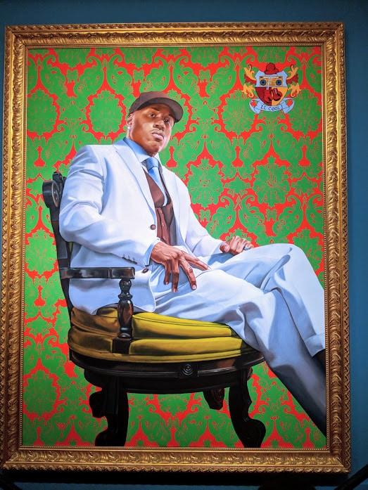 Portrait of LL Cool J at the National Portrait Gallery in Washington, D.C.