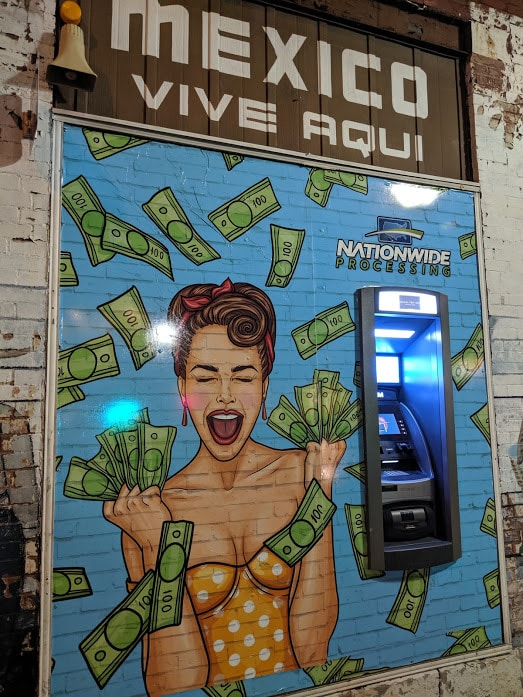 ATM with street art on it, Cherokee Street St. Louis