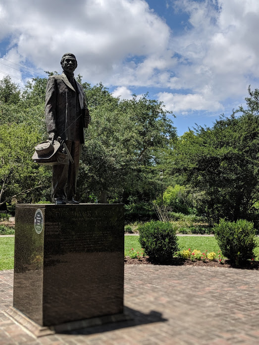 A controversy monument of Denmark Vesey in Hampton Park in Charleston, South Carolina.
