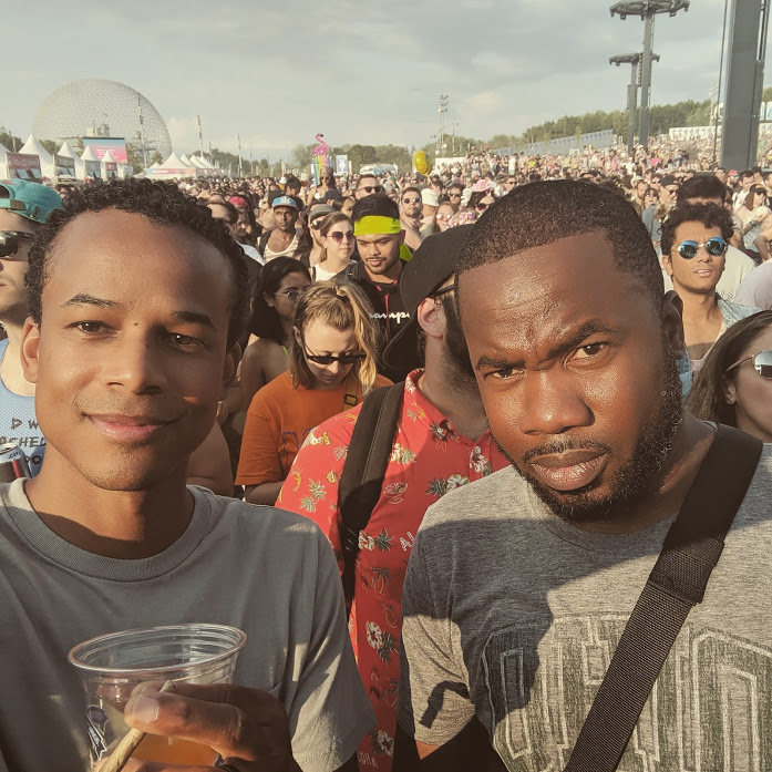 The author and his friend at the Osheaga Music Festival in Montreal
