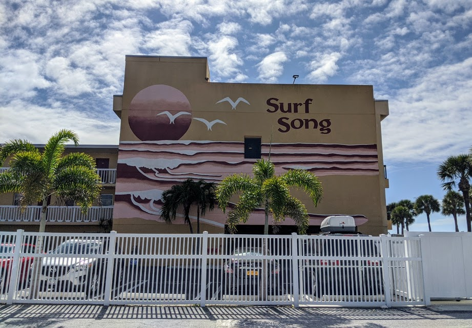 Outside view of Surf Song hotel in St. Petersburg, Florida.