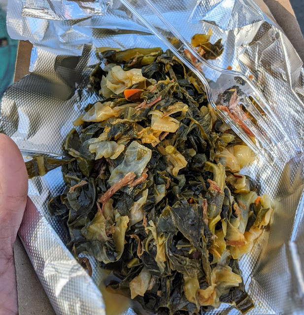 Smoked turkey collard greens, from the Tampa Bay Collard Green Festival