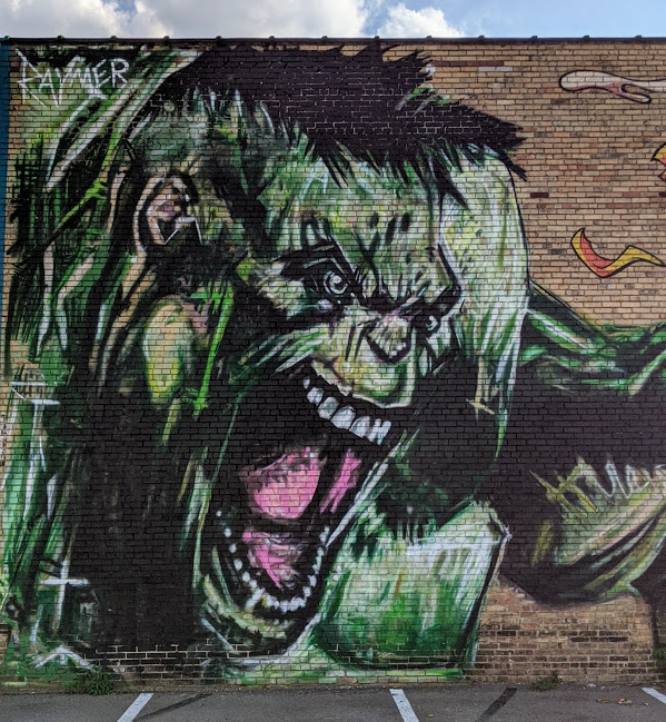 Street art of Incredible Hulk, Pittsburgh, PA